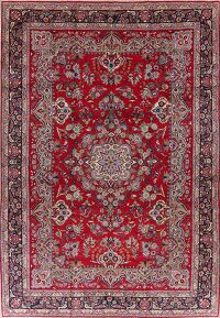 Large Floral Red Najafabad Persian Area Rug 10x15