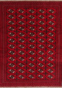 Geometric Red Balouch Oriental Area Rug 7x9