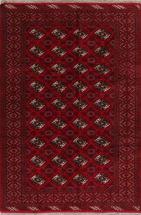 Geometric Red Balouch Oriental Area Rug 7x10
