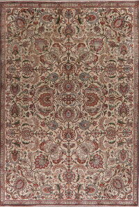 All-Over Tabriz Persian Area Rug 7x11