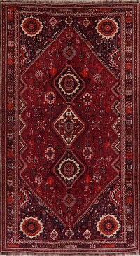 Vintage Geometric Red Shiraz Persian Area Rug 7x11