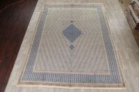 Vintage Geometric Kerman Persian Area Rug 10x13