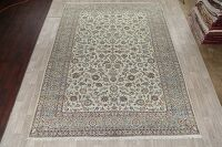 All-Over Floral Green Kashan Persian Area Rug 10x13