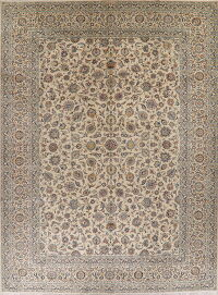 Vintage All-Over Floral Kashan Persian Area Rug 11x15 Large