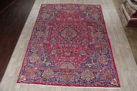 Vintage Dynasty Red Pictorial Kashmar Persian Area Rug 10x13