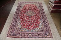 Vintage Floral Red Najafabad Persian Area Rug 10x16 Large