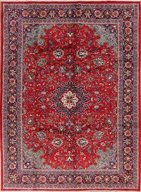 Floral Red Sarouk Persian Area Rug 7x10
