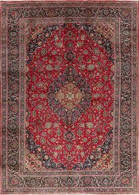 Floral Red Kashmar Persian Area Rug 8x11