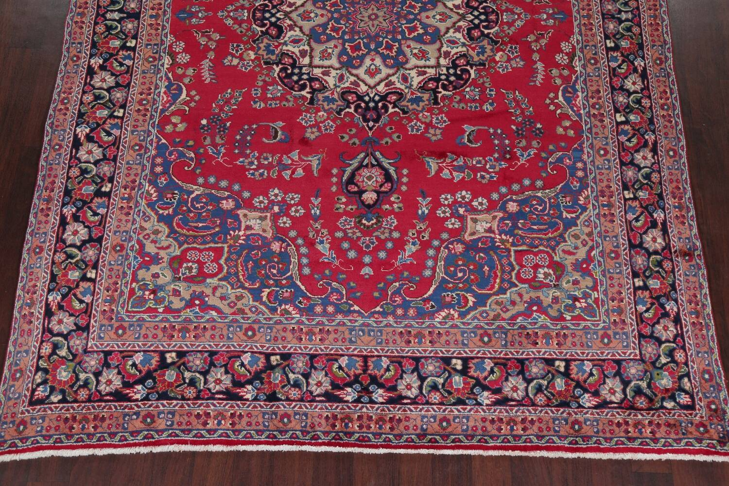 Floral Red Mashad Persian Area Rug 8x11 image 8