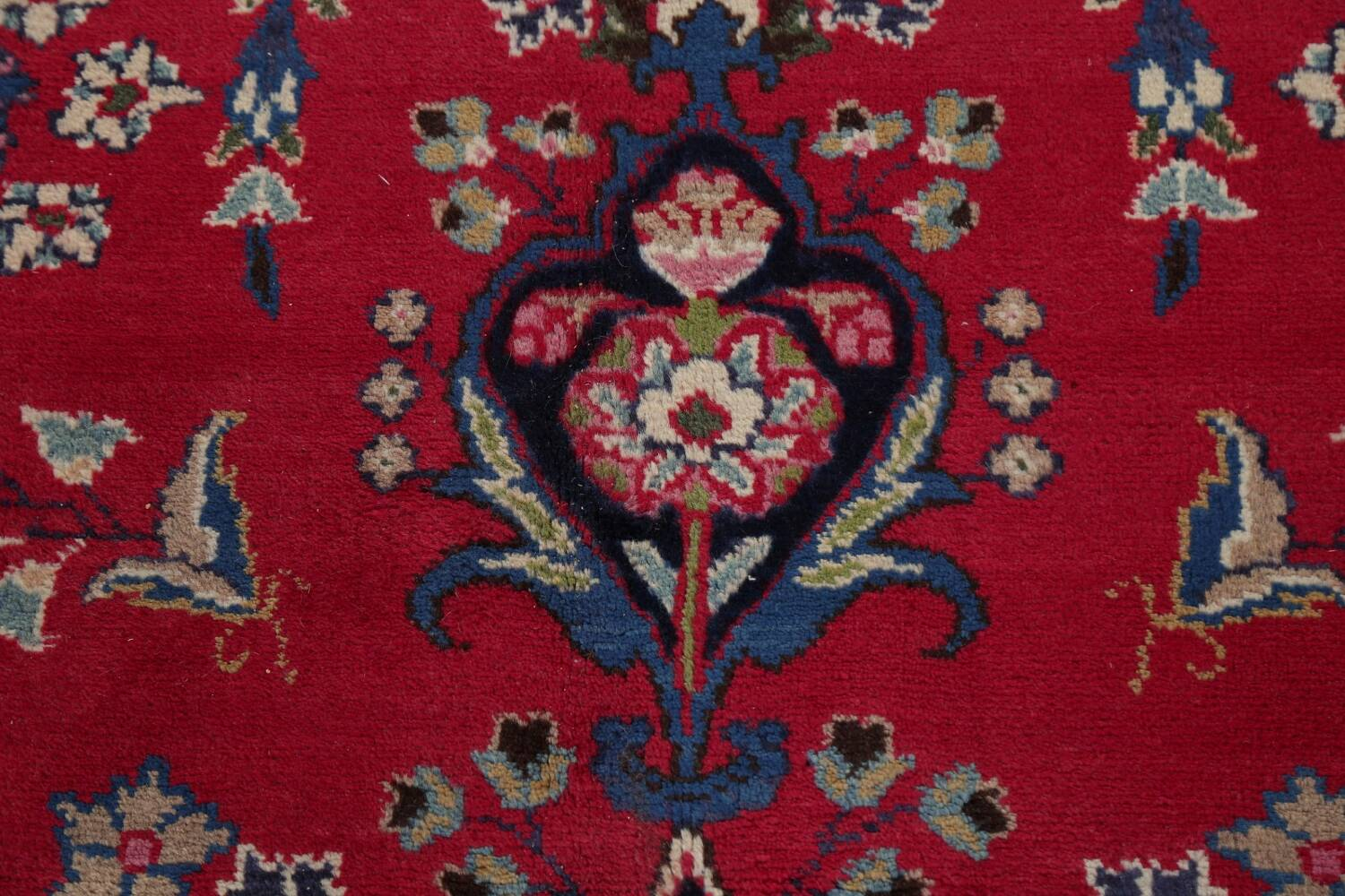 Floral Red Mashad Persian Area Rug 8x11 image 10