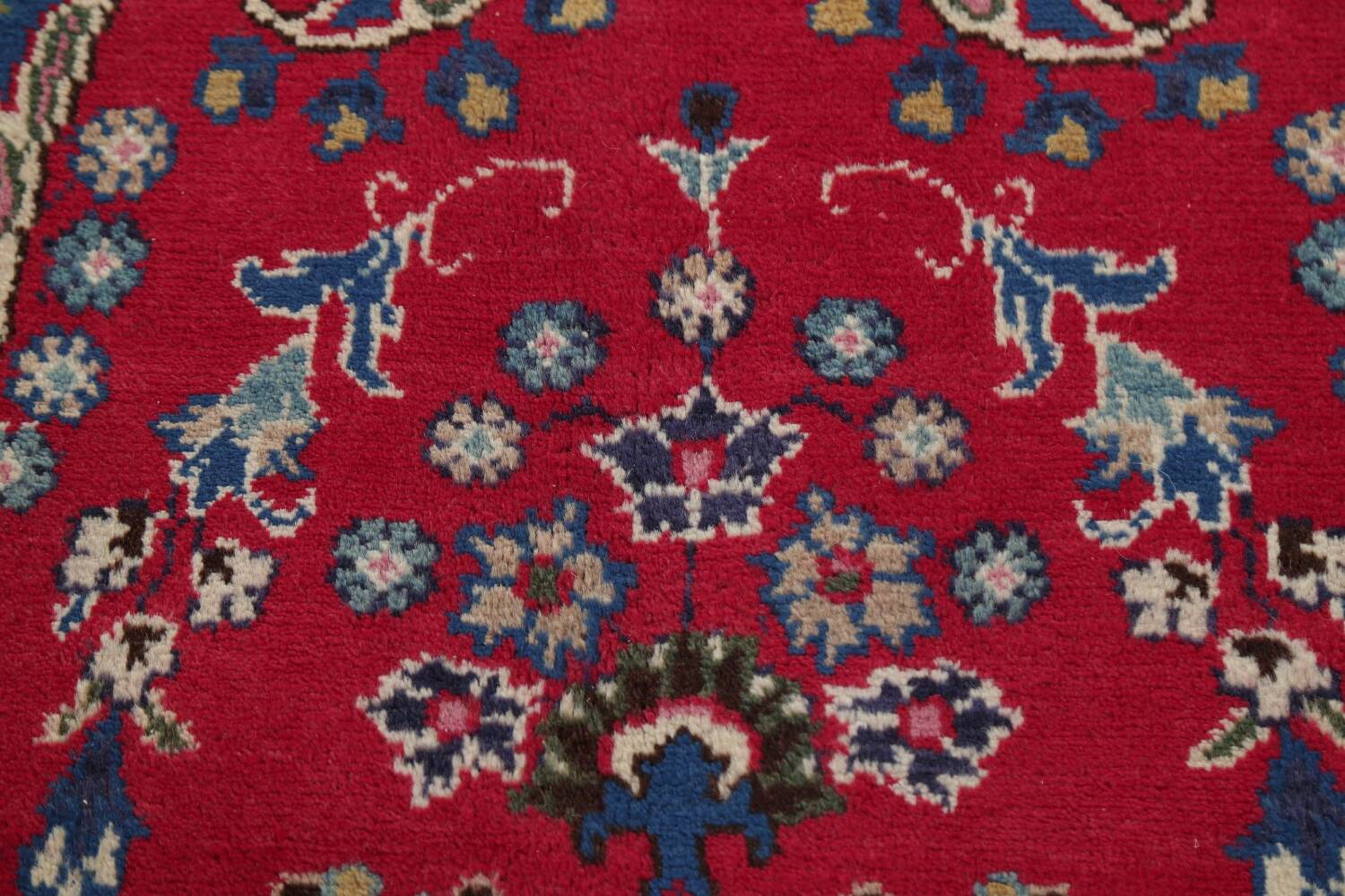 Floral Red Mashad Persian Area Rug 8x11 image 9