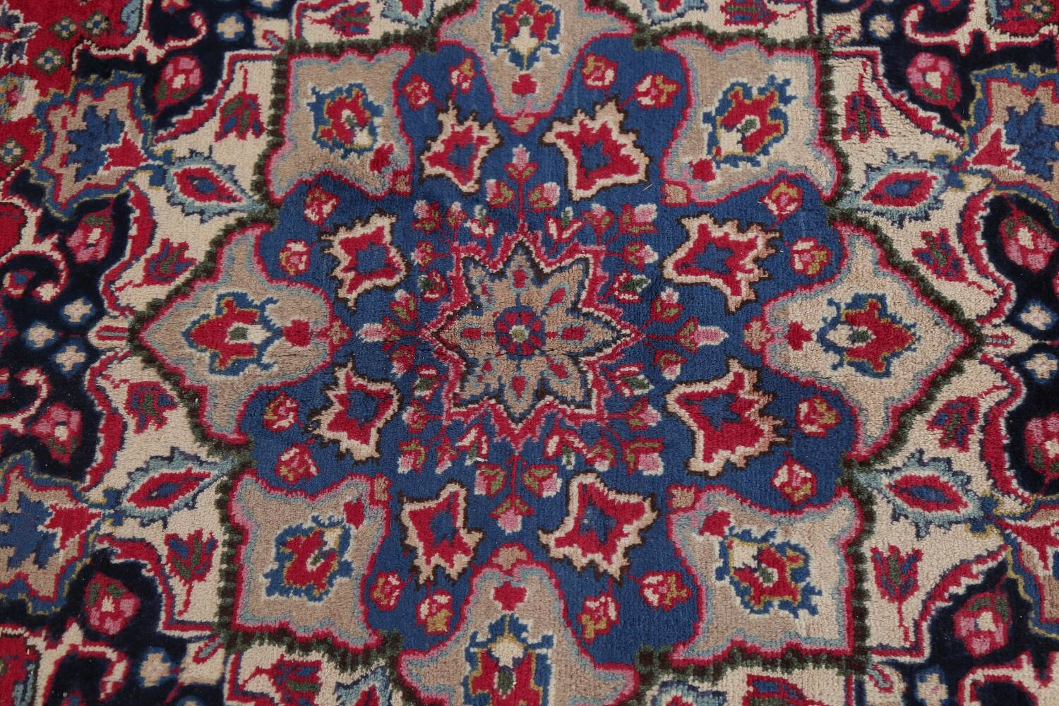 Floral Red Mashad Persian Area Rug 8x11 image 11