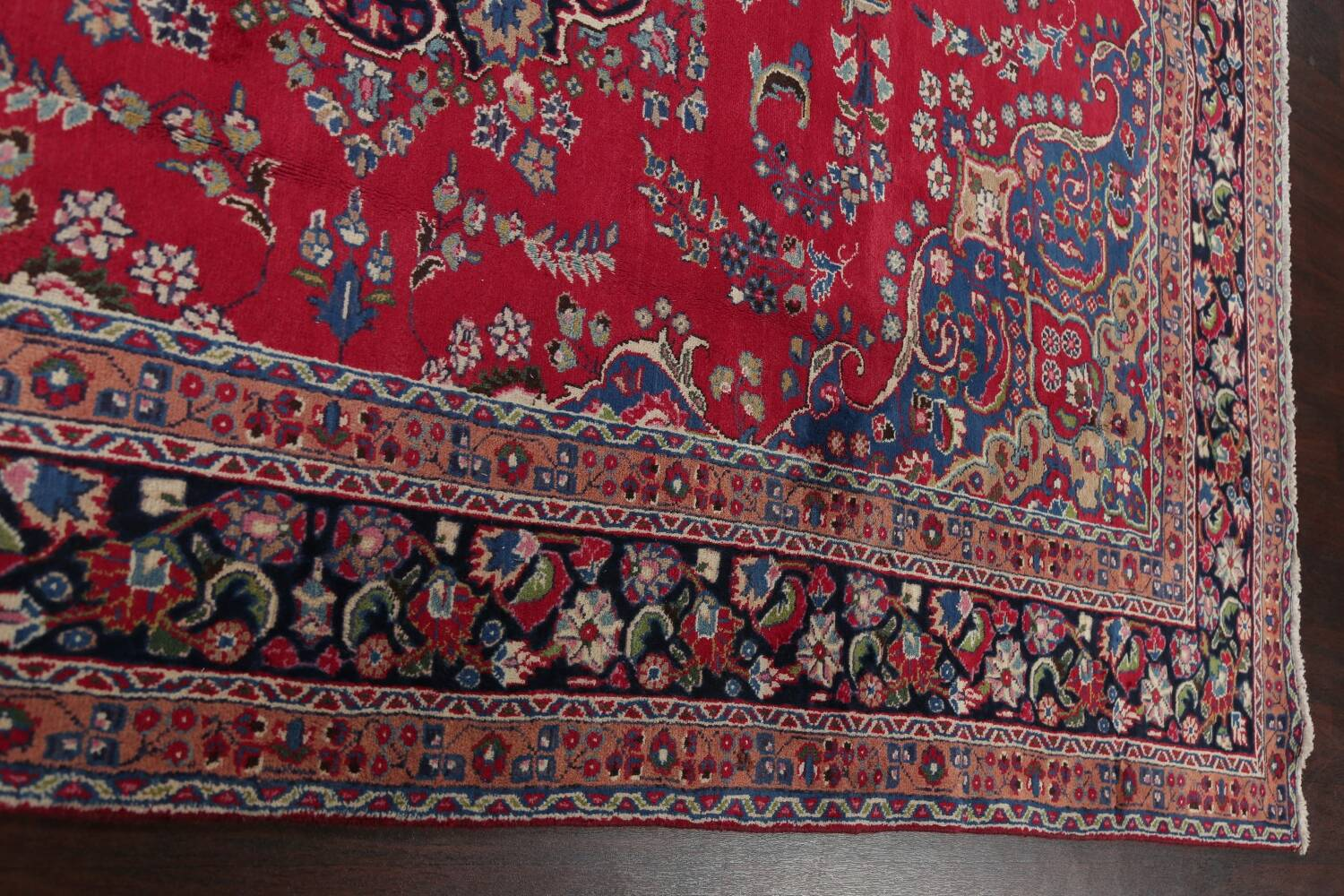 Floral Red Mashad Persian Area Rug 8x11 image 13