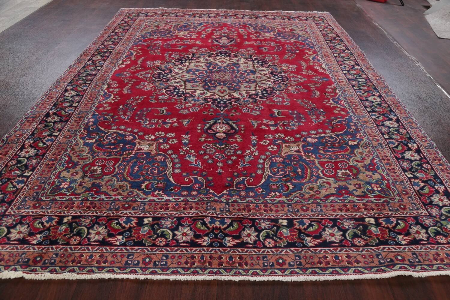 Floral Red Mashad Persian Area Rug 8x11 image 15