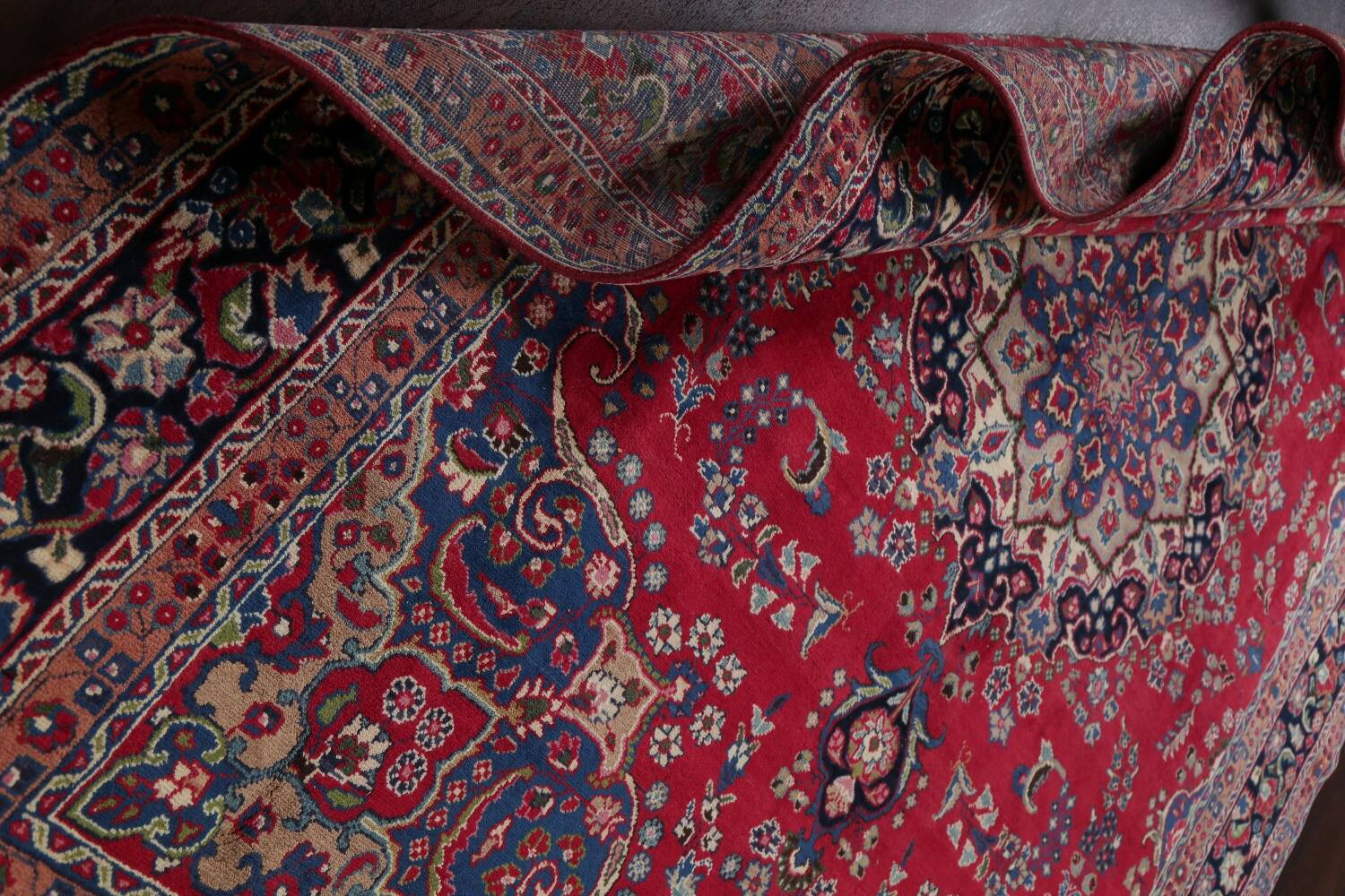 Floral Red Mashad Persian Area Rug 8x11 image 17