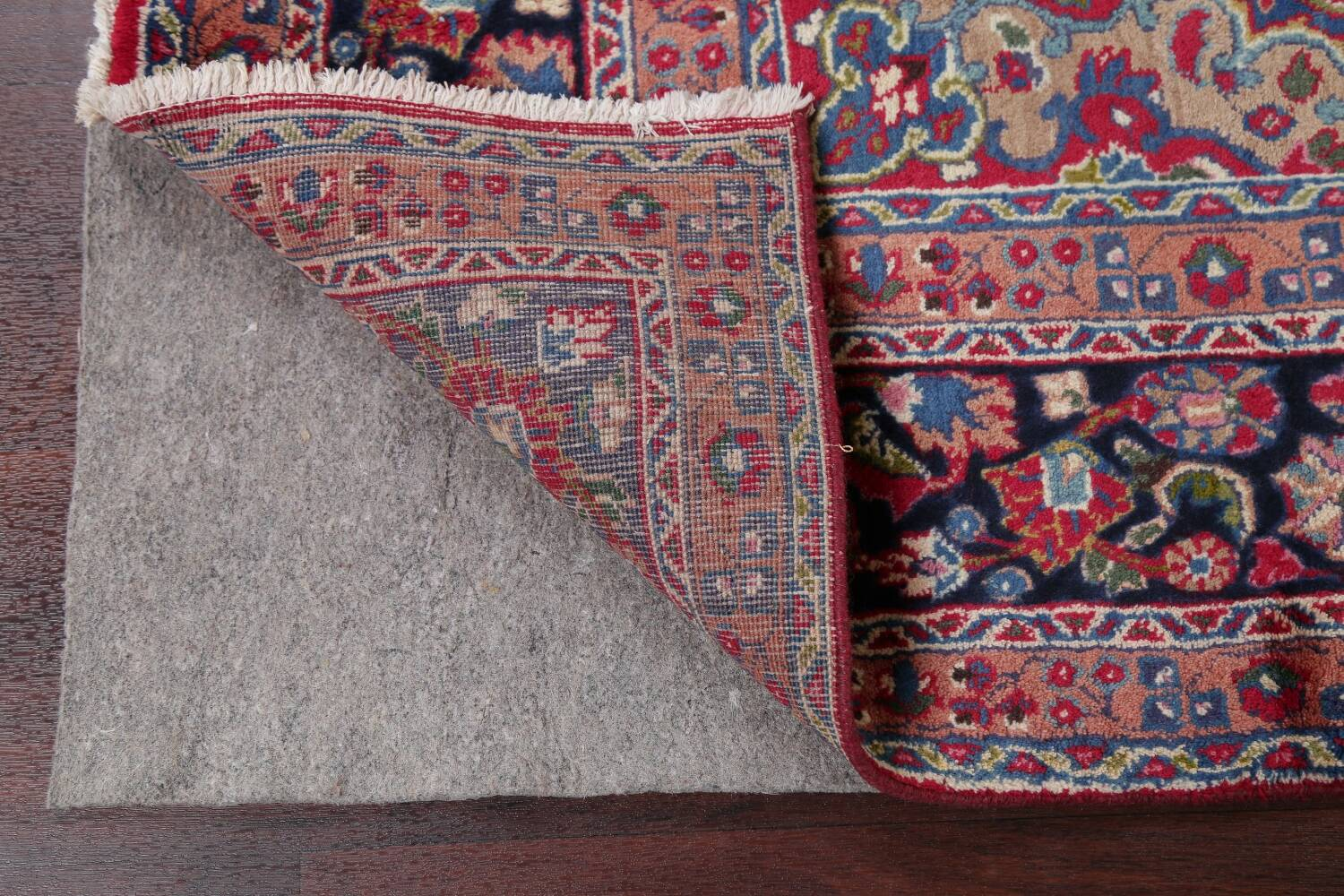 Floral Red Mashad Persian Area Rug 8x11 image 7