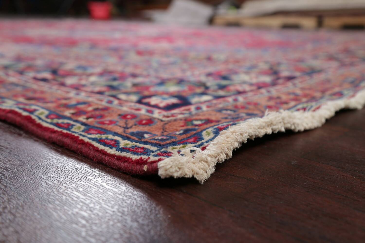 Floral Red Mashad Persian Area Rug 8x11 image 6