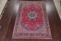 Floral Red Mashad Persian Area Rug 8x11 image 2