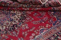 Floral Red Mashad Persian Area Rug 8x11 image 16