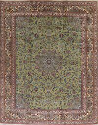 New Floral Green Kashmar Persian Area Rug 10x12