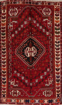 Geometric Shiraz Red Persian Area Rug 5x9
