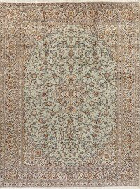 Green Floral Kashan Persian Area Rug 10x13