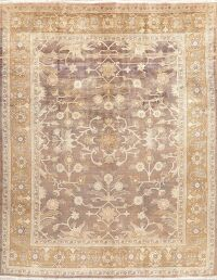 Antique Look Vegetable Dye Sarouk Persian Area Rug 8x11