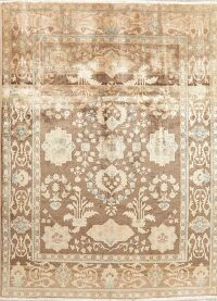 Antique Look Muted Floral Sultanabad Persian Area Rug 7x10