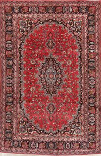 Floral Mashad Red Persian Area Rug 6x10
