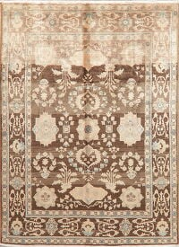 Antique Look Muted Floral Sultanabad Persian Area Rug 7x9