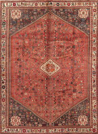 Vintage Tribal Abadeh Persian Area Rug 7x10