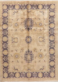 Antique Look Geometric Sultanabad Persian Area Rug 7x10