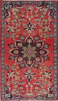 Floral Red Ardebil Persian Area Rug 4x7