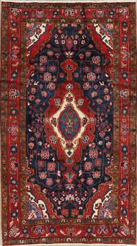 Navy Blue Nanaj Persian Area Rug 4x8