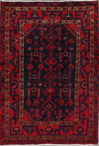 Tribal Geometric Nahavand Persian Area Rug 4x5