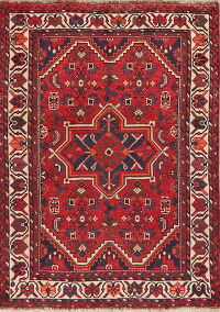 Antique Geometric Lori Persian Area Rug 4x5