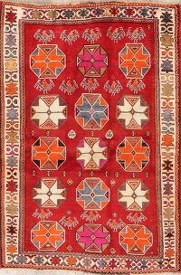 Geometric Shiraz Kashkoli Persian Area Rug 4x6