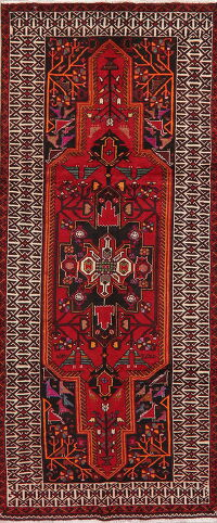 Geometric Animal Design Balouch Oriental Runner Rug 4x9