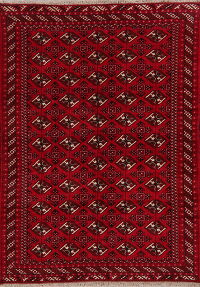 All-Over Geometric Red Balouch Persian Area Rug 7x9