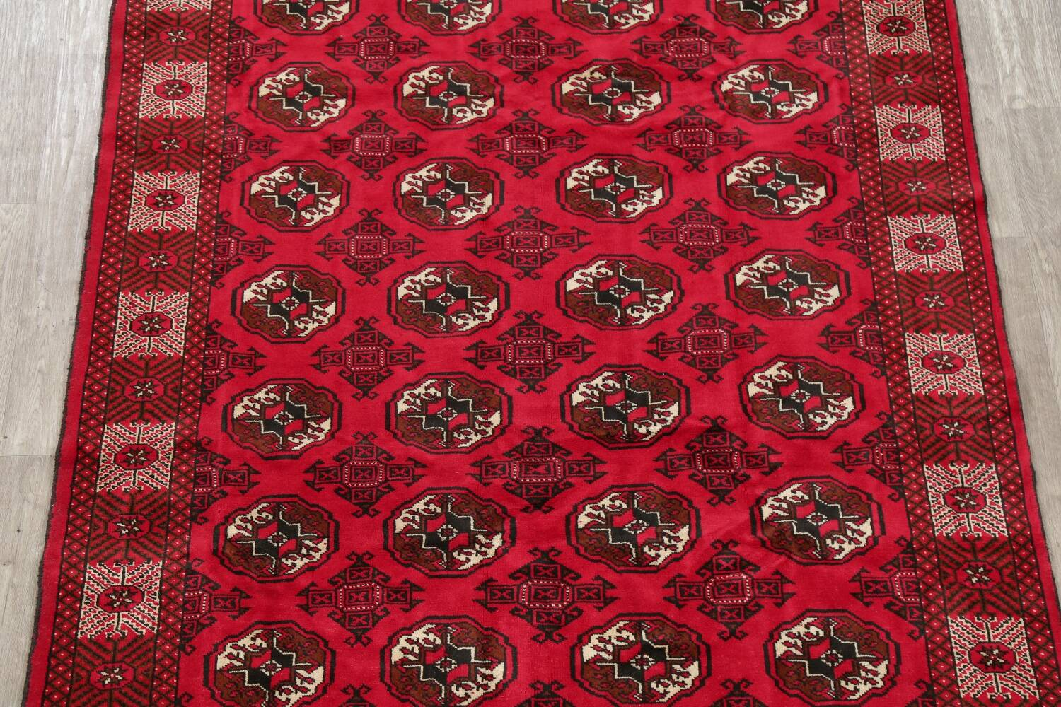 All-Over Geometric Red Balouch Persian Area Rug 6x10 image 3