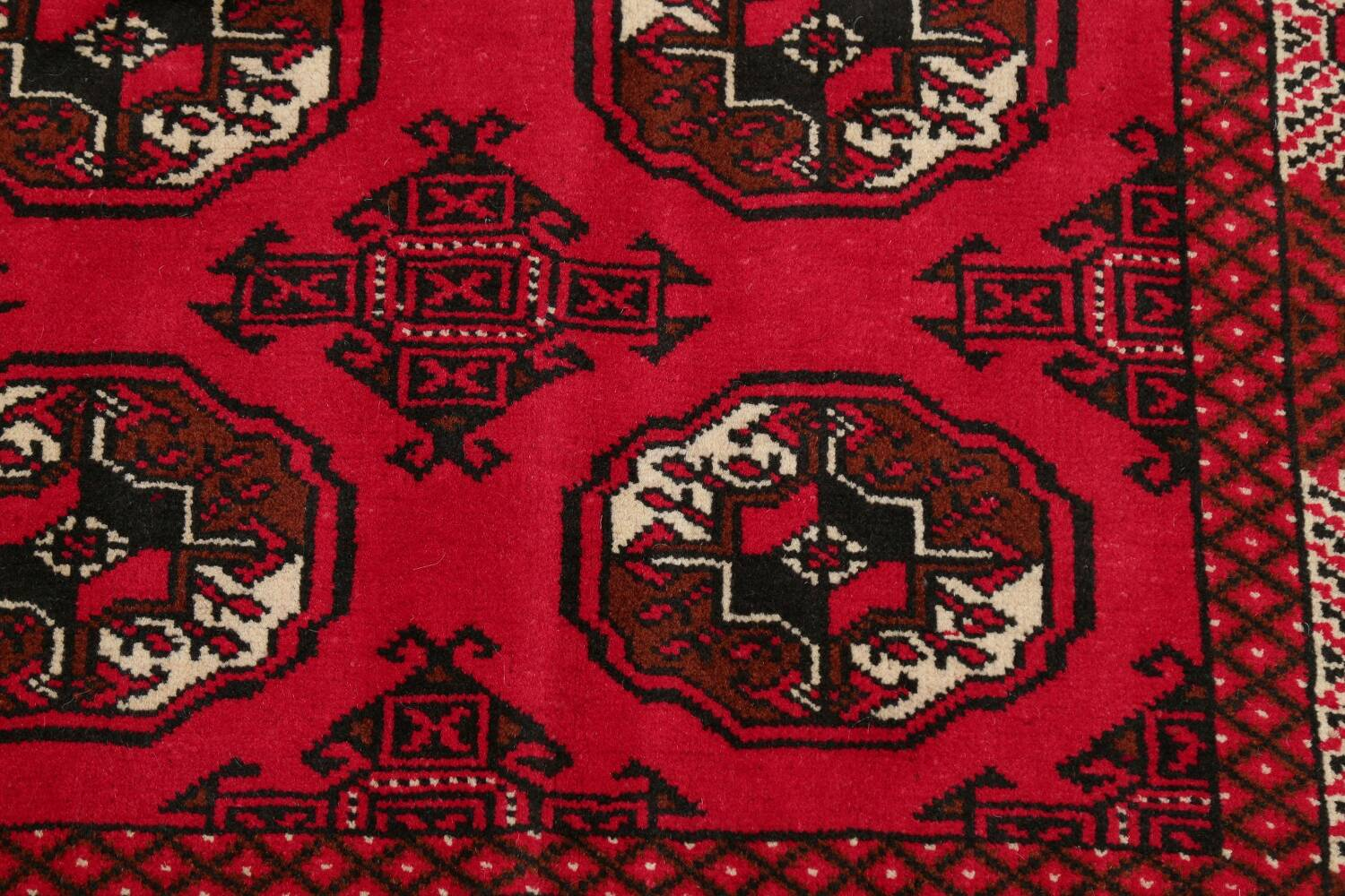 All-Over Geometric Red Balouch Persian Area Rug 6x10 image 8