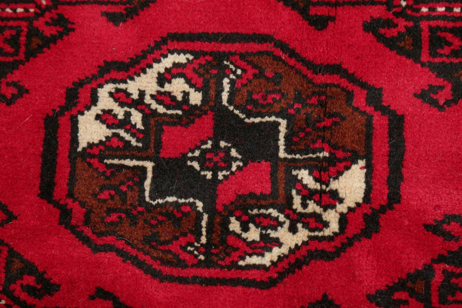 All-Over Geometric Red Balouch Persian Area Rug 6x10 image 10