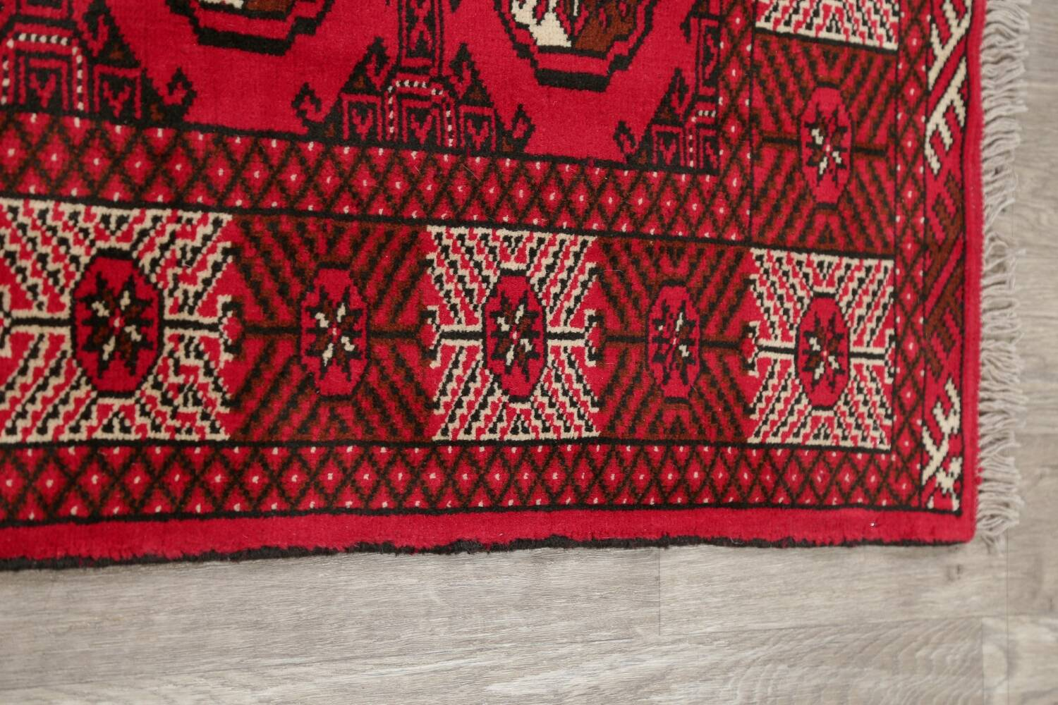 All-Over Geometric Red Balouch Persian Area Rug 6x10 image 11
