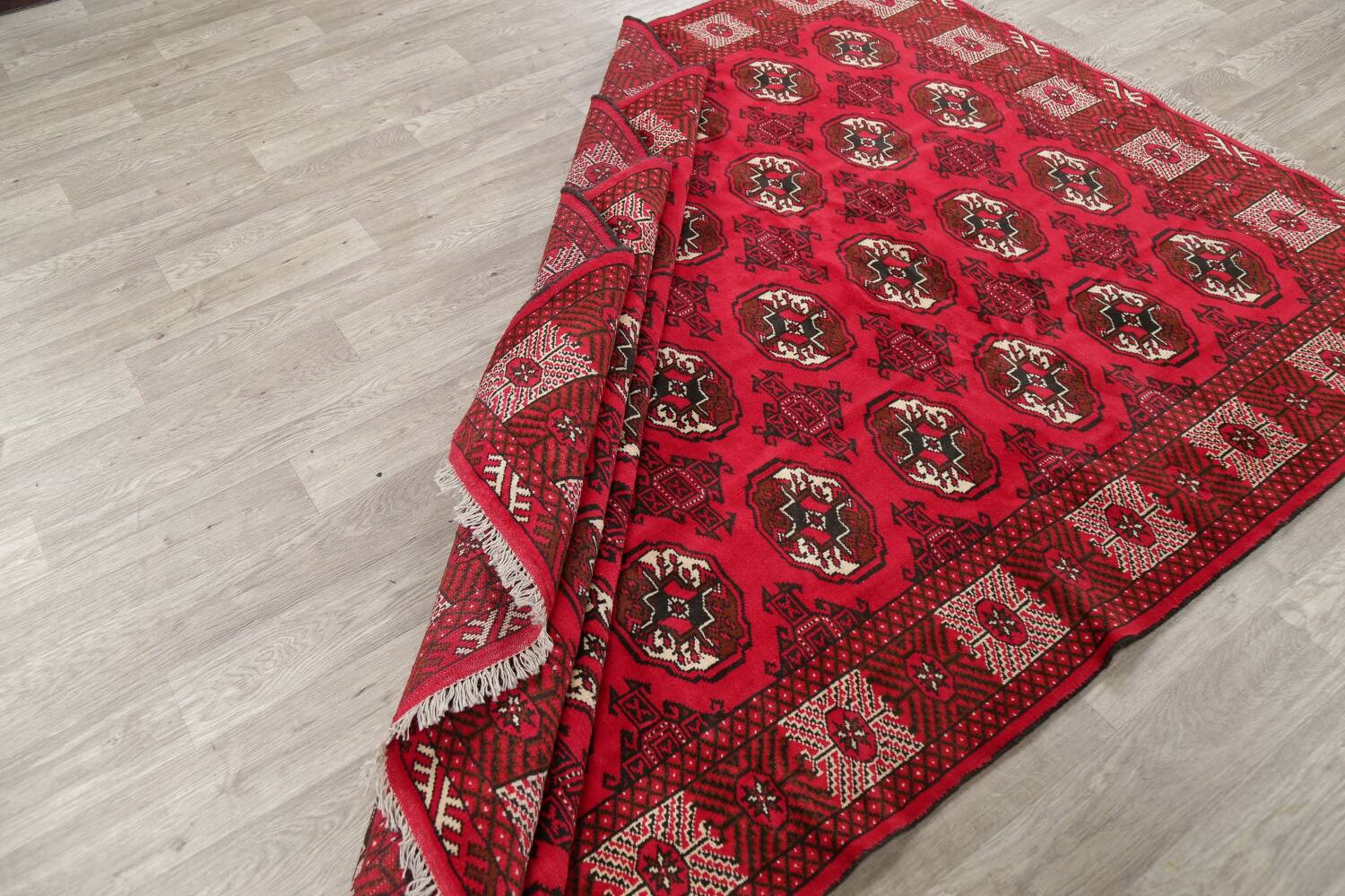 All-Over Geometric Red Balouch Persian Area Rug 6x10 image 15