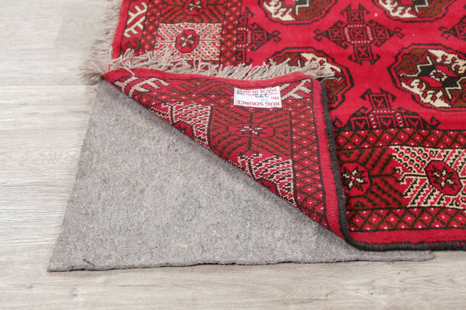 All-Over Geometric Red Balouch Persian Area Rug 6x10 image 6