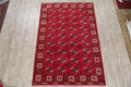 All-Over Geometric Red Balouch Persian Area Rug 6x10 image 2