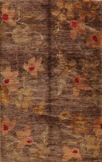 Brown Floral Moroccan Oriental Area Rug 5x8