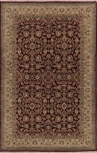 All-Over Floral Agra Oriental Area Rug 6x9