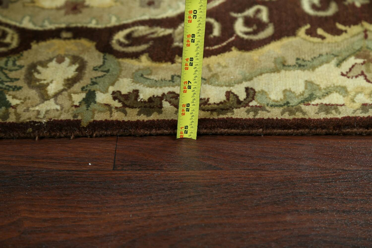 Victorian Style Aubusson Brown Runner Rug 3x9 image 17