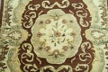 Victorian Style Aubusson Brown Runner Rug 3x9 image 4